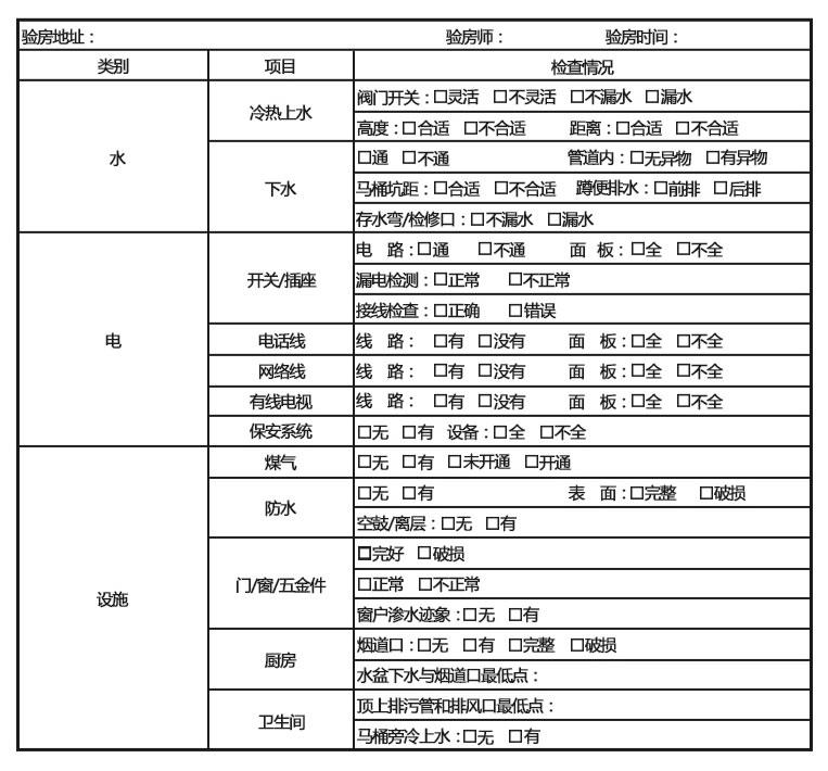 原房基础设计验收表